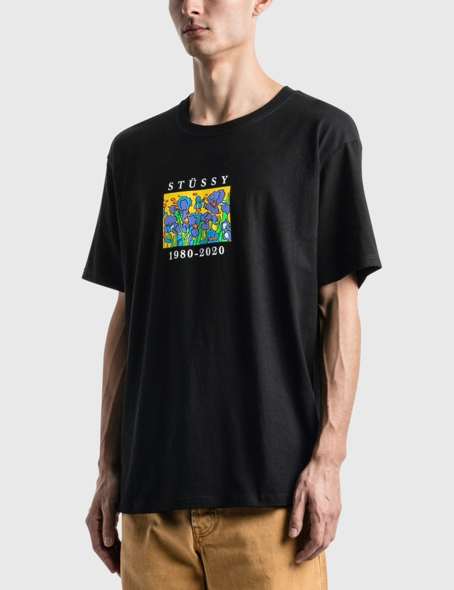 Stussy Irises T-Shirt Black Men