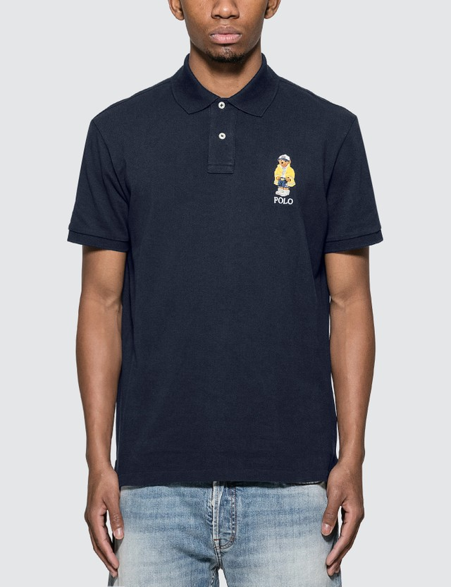 Polo Ralph Lauren Polo Shirt With Embroidered Polo Bear