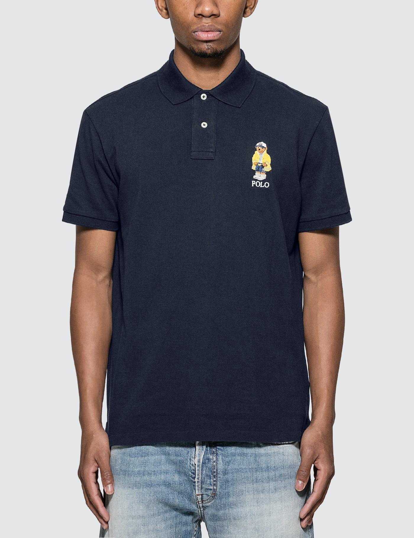 Polo Shirt With Embroidered Polo Bear