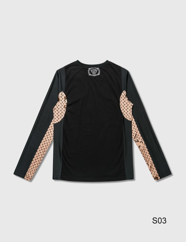 Marine Serre Overproduced Logo Long Sleeve T-Shirt