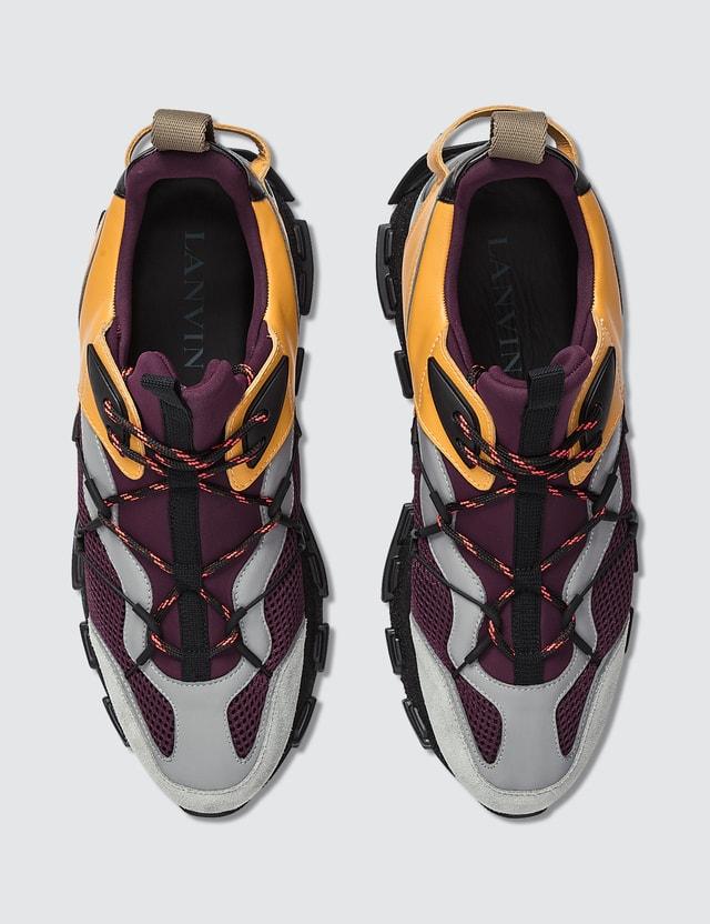 Lanvin Vega Sneaker Purple / Beige Men