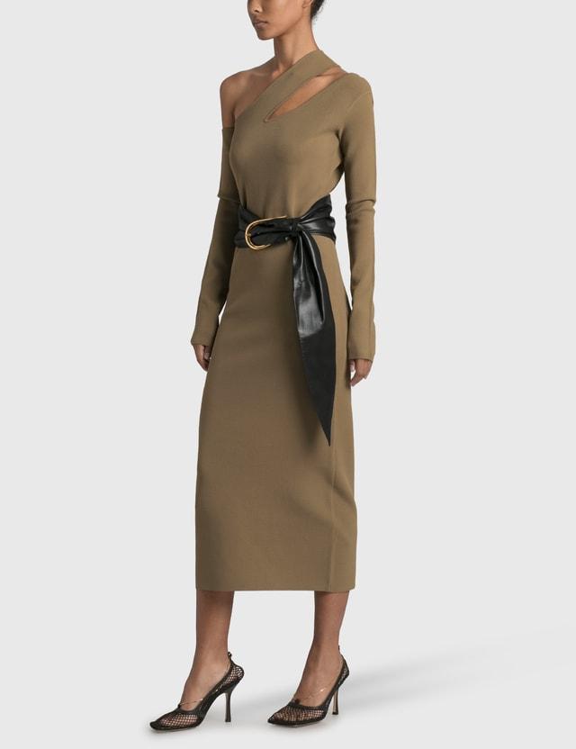 Nanushka Nala Cut Out Dress Light Khaki Women