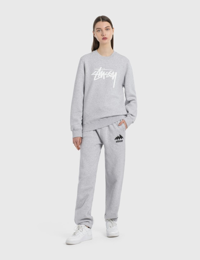 Stussy Stock Crew Sweatshirt Ash Heather Women