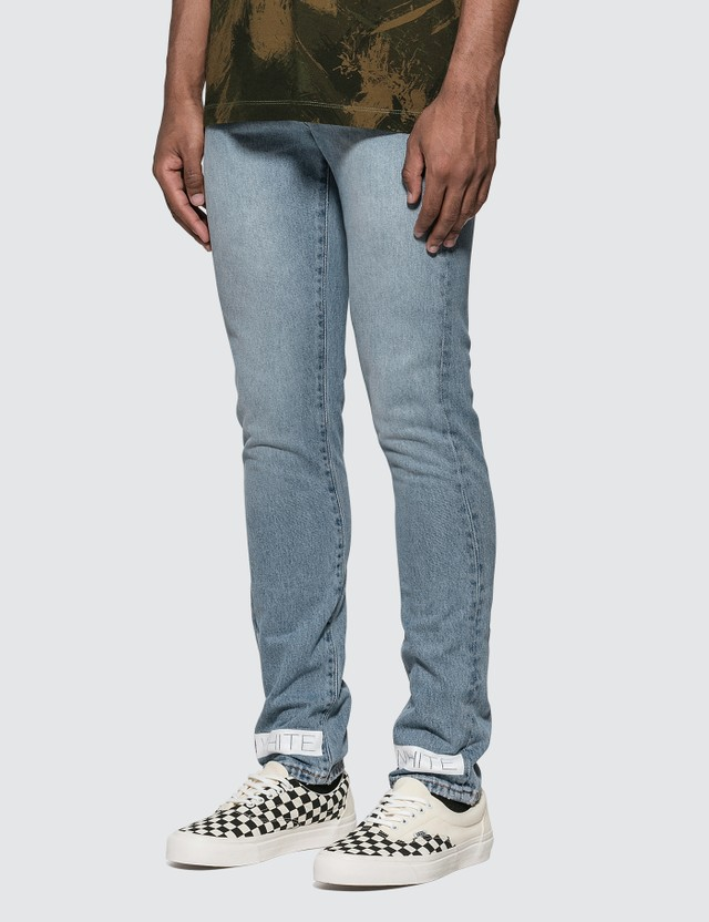 Off-White Bleach Slim Denim Nikel Jeans