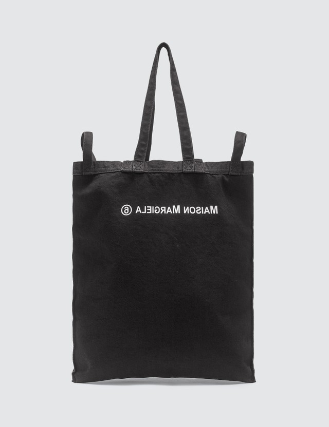 MM6 Maison Margiela Logo Denim Tote Bag