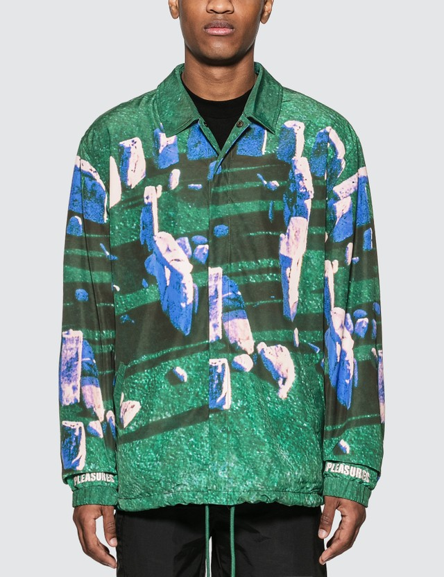 Pleasures Questions Coaches Jacket Green Men