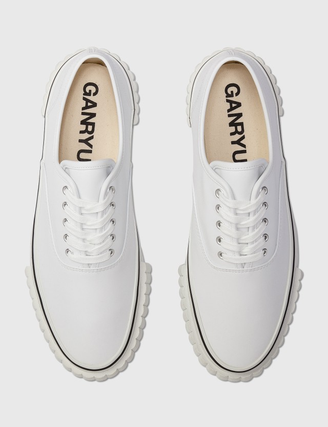 Comme des Garçons GANRYU Comme Des Garçons Ganryu Leather Sneaker White Archives