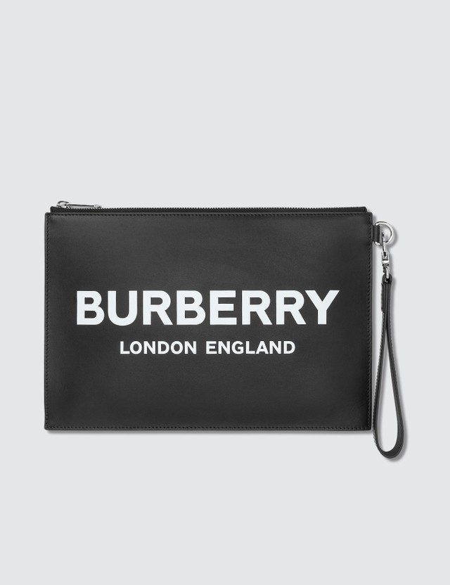 Burberry Logo Printed Pouch