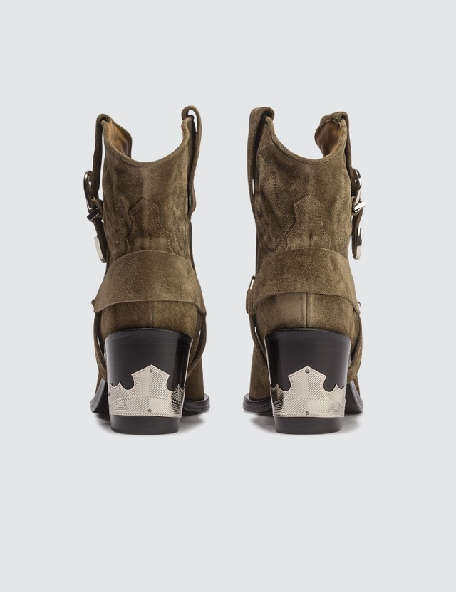 Toga Pulla Western Harness Suede Boots