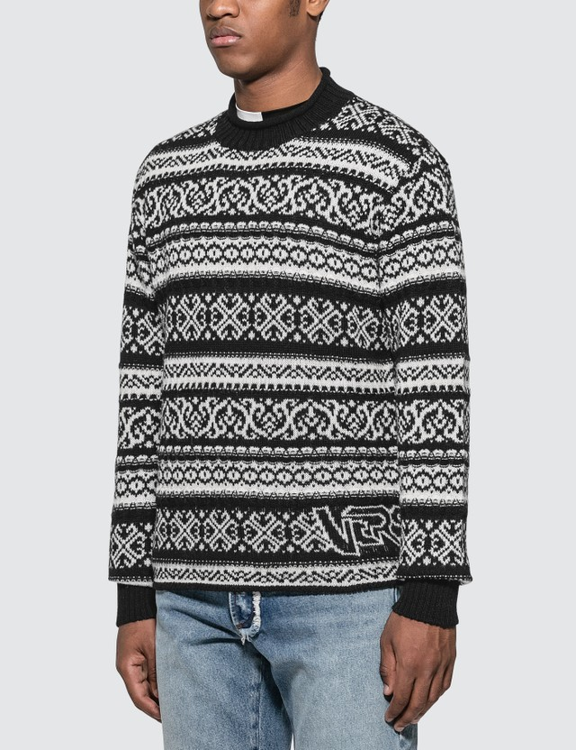 Versace Knit Jacquard Sweater