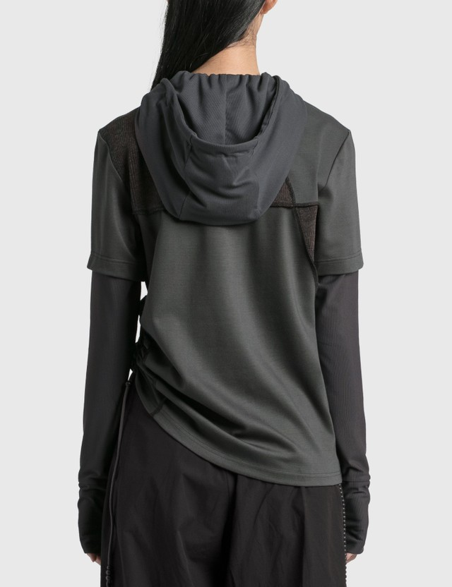 Hyein Seo Twisted Hoodie Grey Women