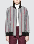 Stussy Wool Stripe Bomber Jacket Picture
