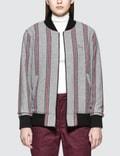 Stussy Wool Stripe Bomber Jacket Picture
