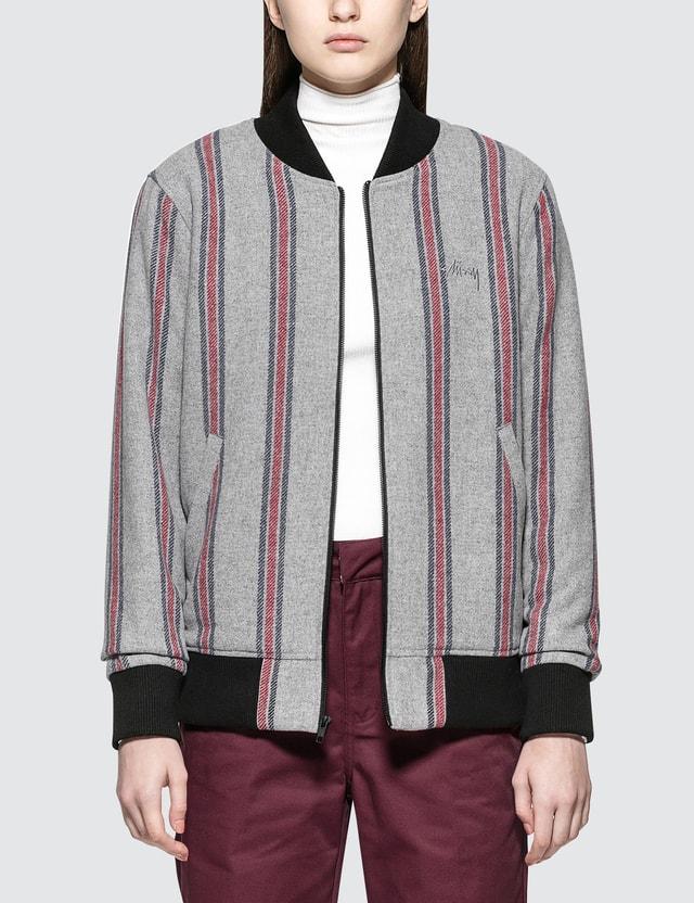 a8b82f7f2 Wool Stripe Bomber Jacket