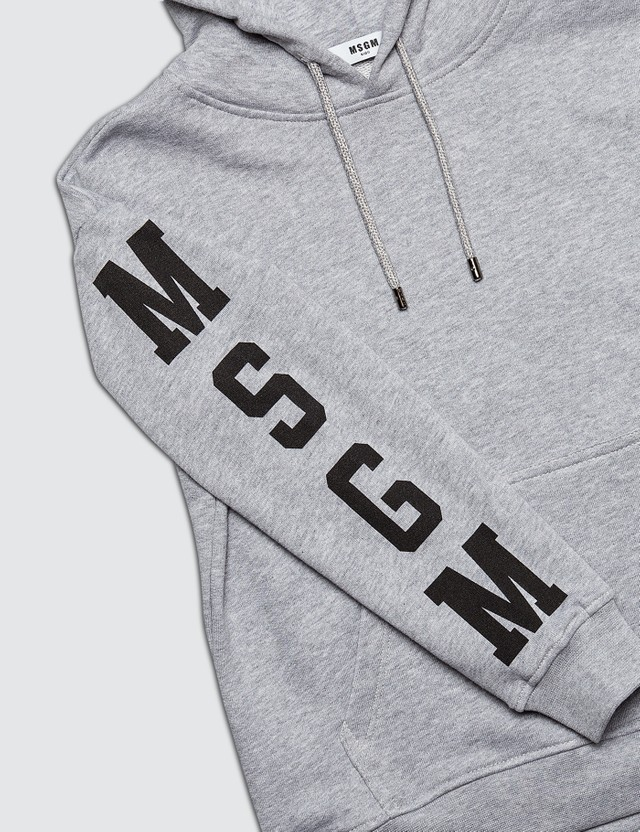 MSGM Back Embroidered 'M' Hooded Sweatshirt