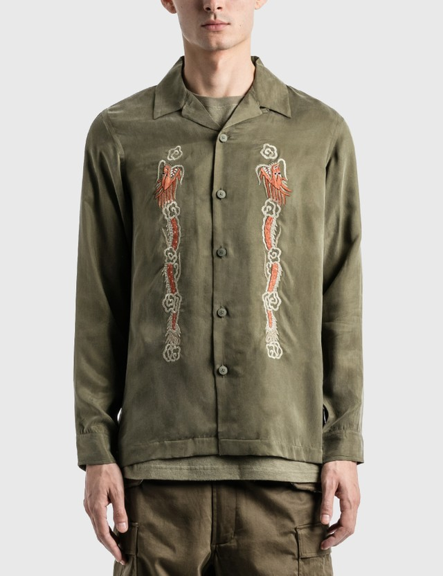 Maharishi Souvenir Silk Shirt =e33 Men