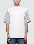 Lanvin Short Shirt Back Fabric Mix S/S T-Shirt Picture