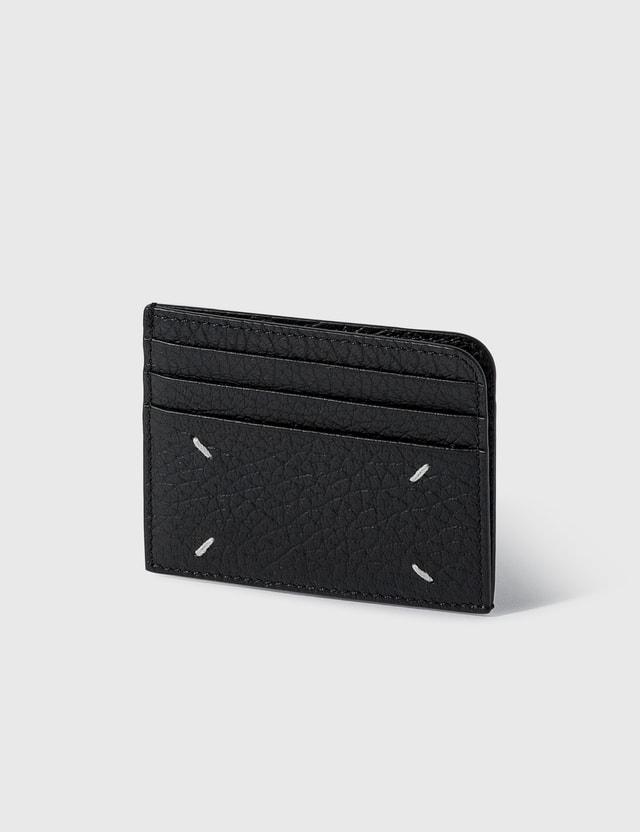 Maison Margiela Grainy Leather Card Holder Black Women