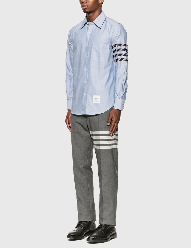 Thom Browne 4-Bar Oxford Shirt Light Blue Men