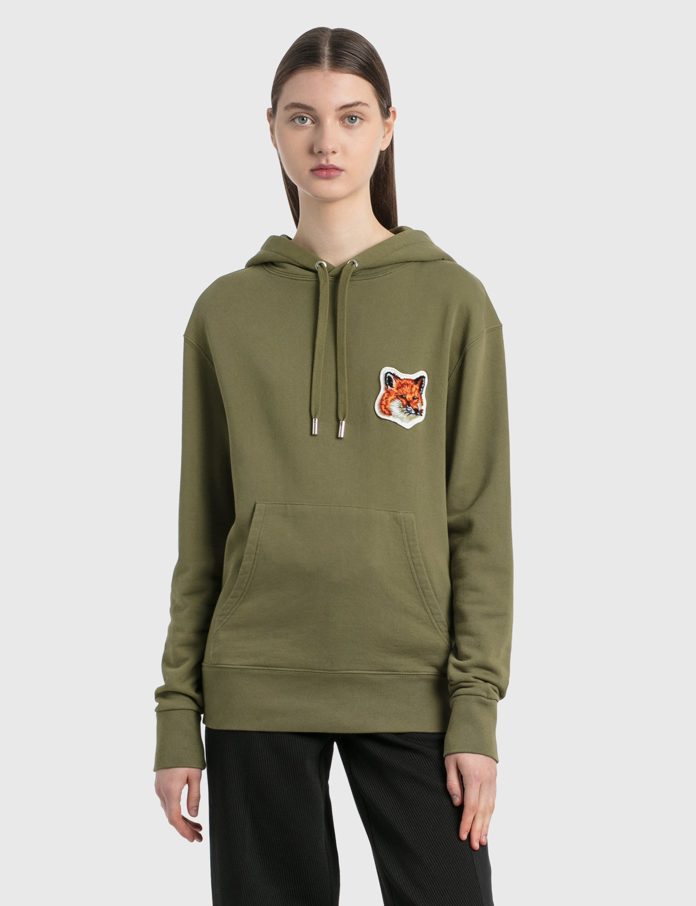 Maison Kitsuné Cottons VELVET FOX HEAD PATCH CLASSIC HOODIE