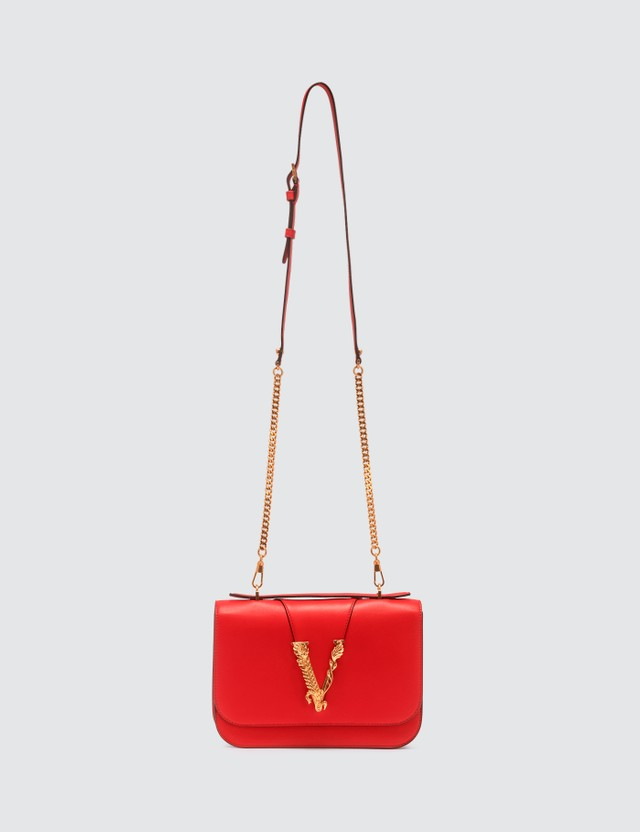 Versace Quilted Virtus Medium Shoulder Bag