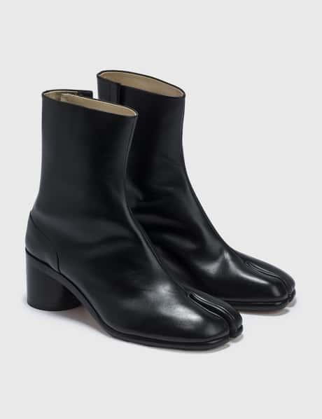 메종 마르지엘라 Maison Margiela Smooth Leather Tabi Ankle Boots