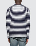 Maison Kitsune Tricolor Fox Patch Marin L/S T-Shirt