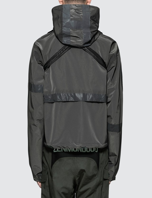 Heliot Emil Technical Fabric Jacket with Chest Bag