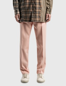 Burberry Check Side Stripe Dry Wool Twill Tailored Trousers