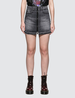 Marcelo Burlon Light Wash Skirt