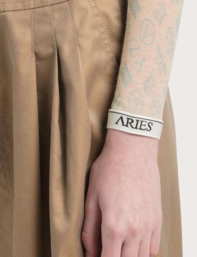 Aries Monogram Long Sleeve Mesh Top