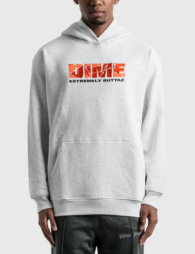 Dime Extremely Buttaz Hoodie Ash Men