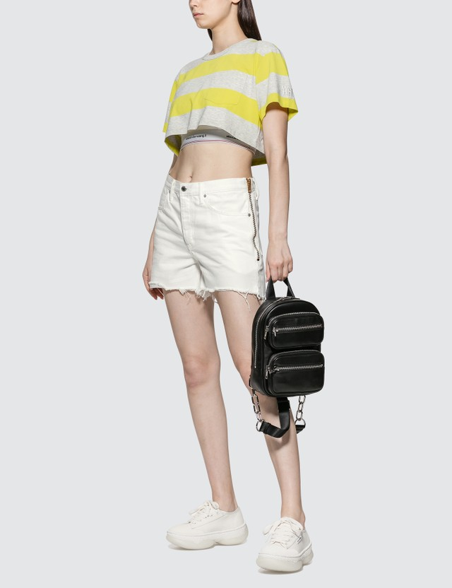 Alexander Wang.T Float Zip Denim Shorts