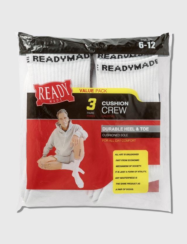 READYMADE 3P Crew Socks
