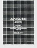 Acne Studios Cassiar Check Narrow Scarf Black/grey Women