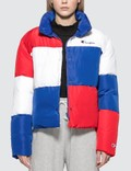 Champion Reverse Weave Color Block Puff Down Jacket Picture