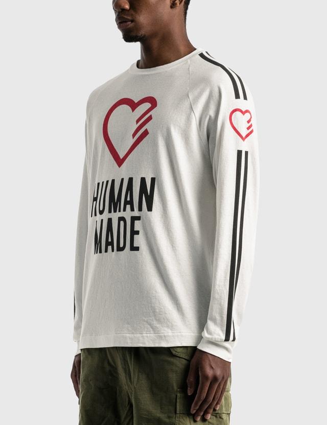 Human Made Heart Long Sleeve T-shirt White Men
