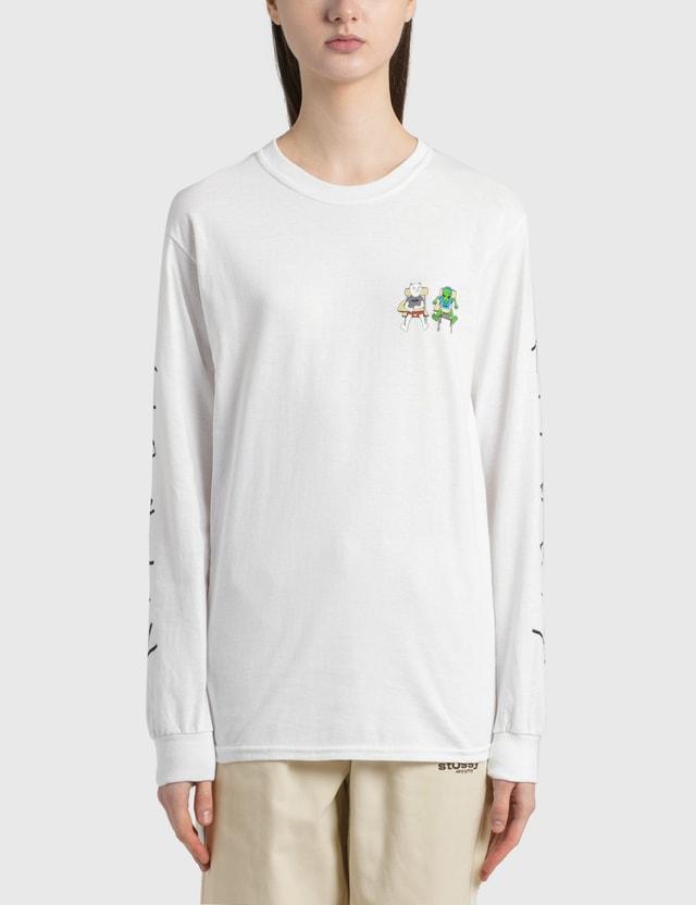 RIPNDIP Butts Up Long Sleeve T-Shirt White Women