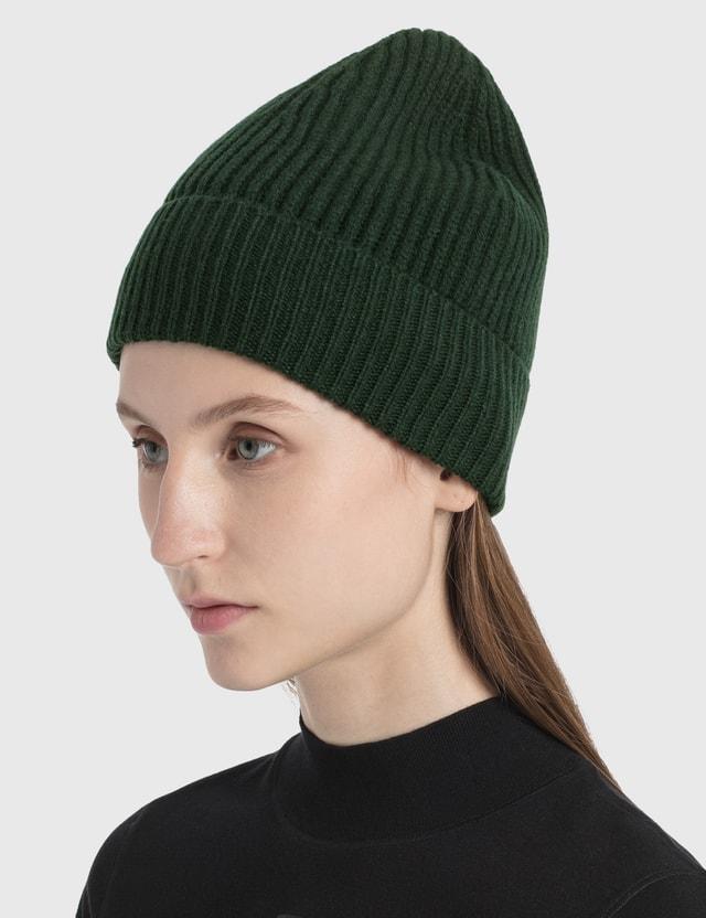 Maison Margiela Stitch Beanie Dark Green Women