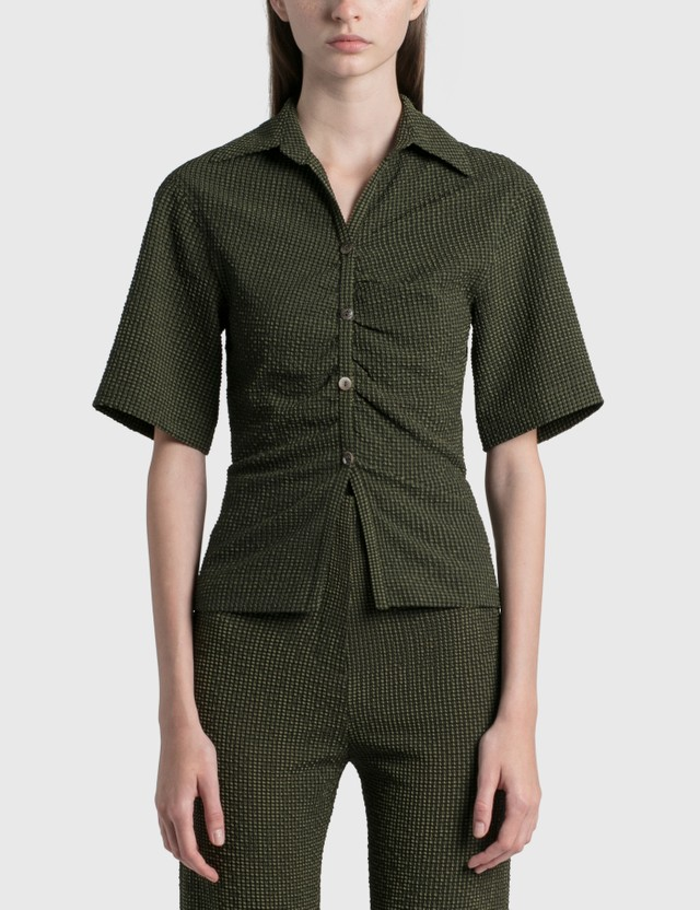 Nanushka Saff Shirt Khaki Check Women