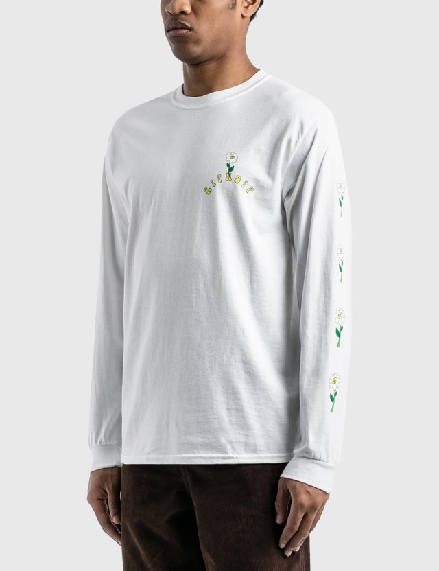 RIPNDIP Unicorn Rider Long Sleeve T-Shirt White Men