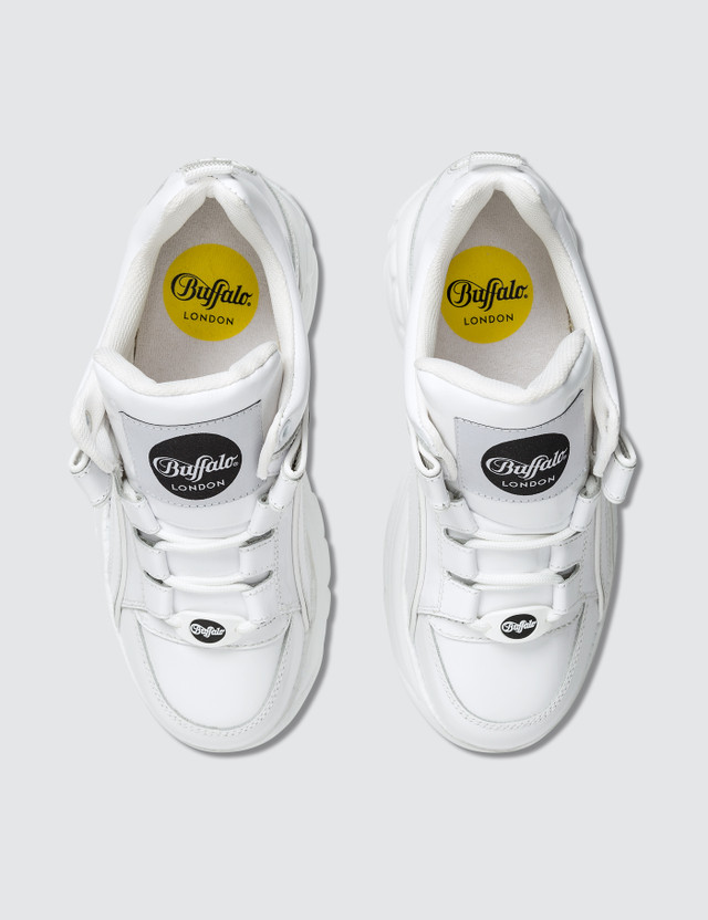 Buffalo London Buffalo Classic White Low-top Platform Sneakers in Patent