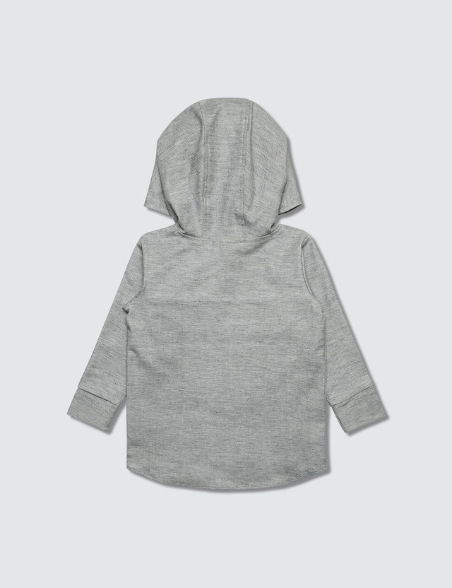Bash+Sass Oversized Pullover Hoodie Grey Denim Boys
