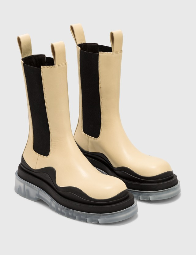 Bottega Veneta BV Tire Boots Vaseline-bl-t Women