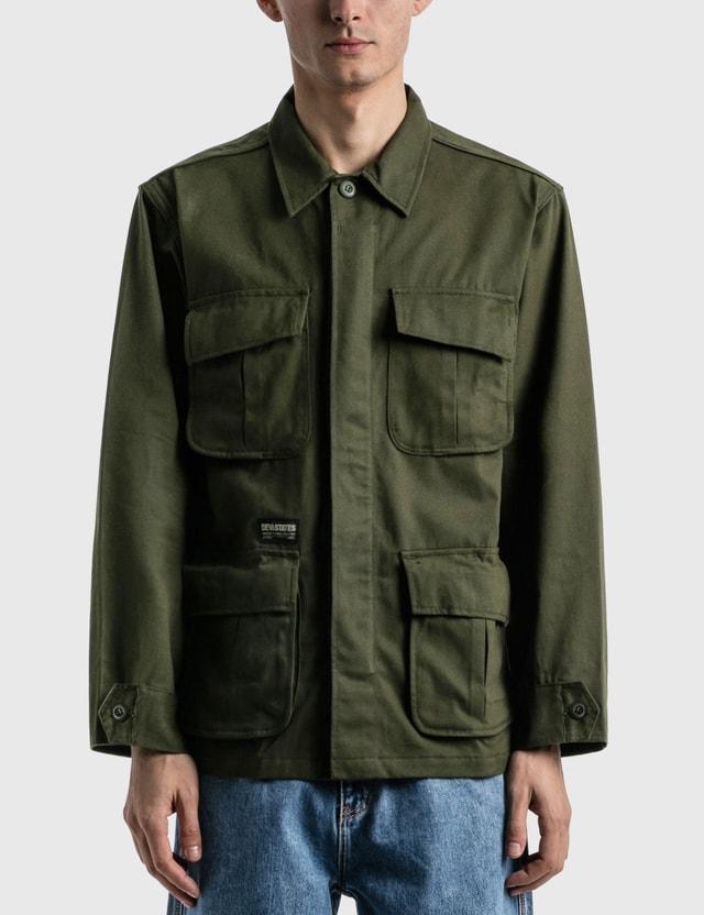 DEVÁ STATES Bones Fatigue Jacket Green Men