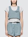 Alexander Wang.T Lightweight Terry Bi-layer Short Sleeve Crop Top Picture