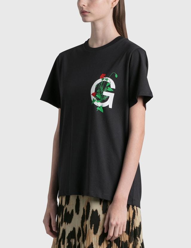 Ganni Basic Cotton Jersey T-Shirt Phantom Women