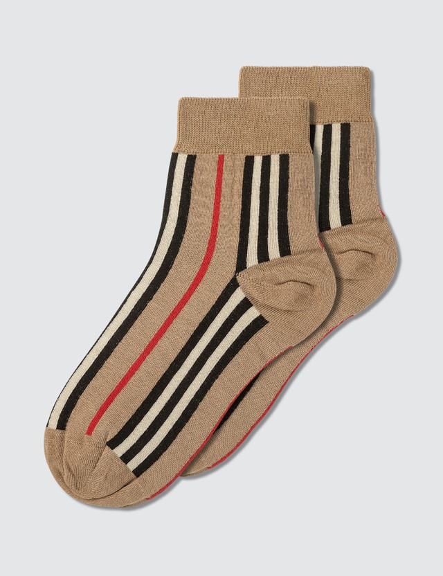 Burberry Vintage Stripe Short Socks Archive Beige Men