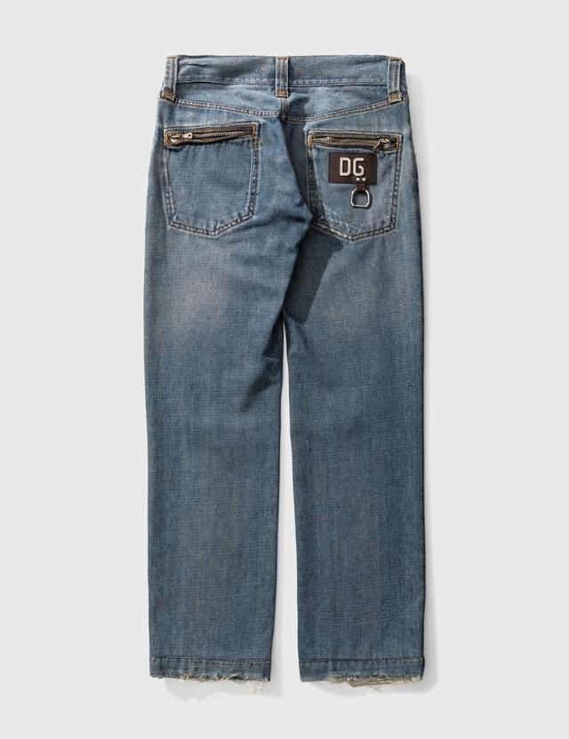 Dolce & Gabbana Dolce & Gabbana Washed Jeans Blue Men