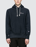 Champion Reverse Weave Small Script Logo Hoodie Picture